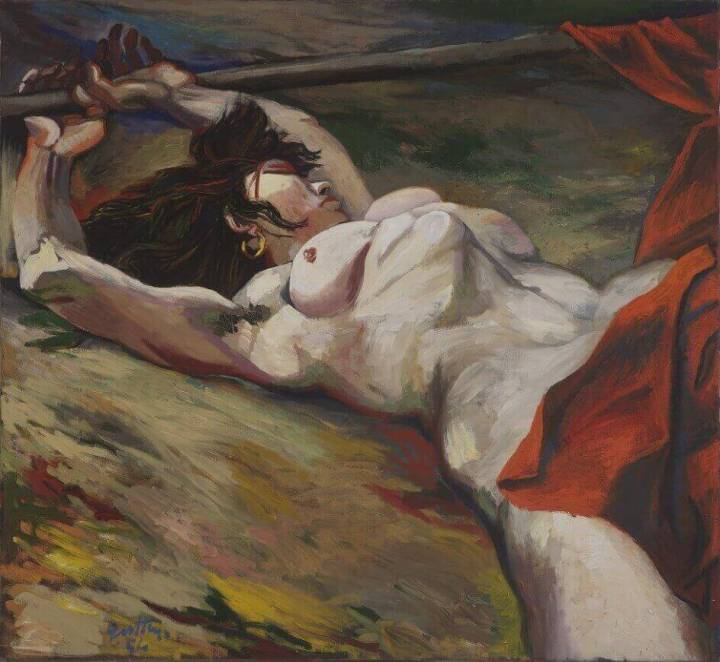 renato-guttuso-eroina-leroina-garibaldina-partigiana-assassinata-1954-olio-su-tela-cm-110-x-120-courtesy-galleria-darte-maggiore-g-a-m-bologna