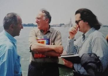Con Alik Cavaliere ed Enrico Baj verso i Giardini, tanti a fa...