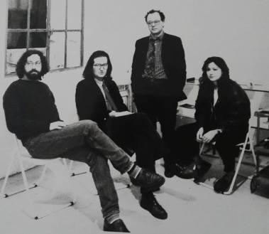 Con C.Cassar, F.Ionda e A. Bonoli al Mercato del Sale di Milano primi anni '90.