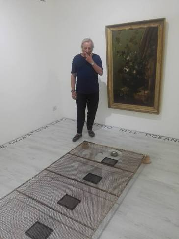 Con Giorgio Cattani in Fabula Gallery Ferrara.