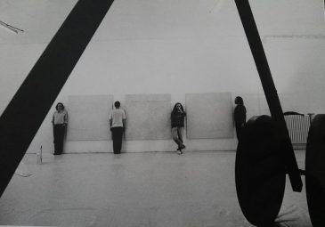 Con M.Roselli, G.Giorgi e C. Cassar da D.van der Koelen Gallery Mainz anni '90.