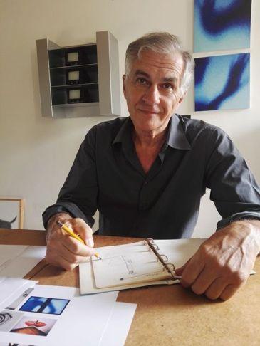 Con Maurizio Camerani in studio a Ferrara.