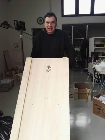 Con Vittorio Corsini una Domenica nello Studio con le Opere per ArtKarlsruhe.