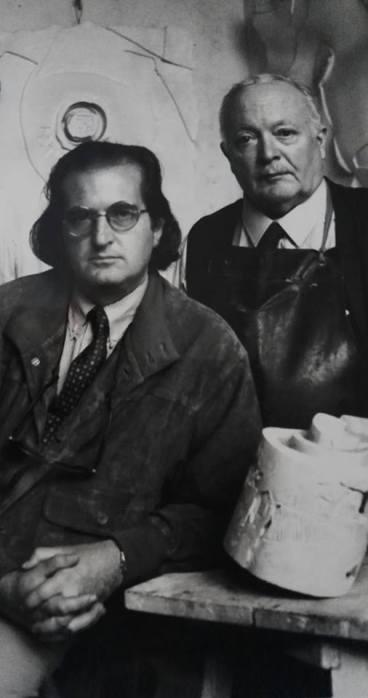 Giancarlo Marchese nello studio 1995.