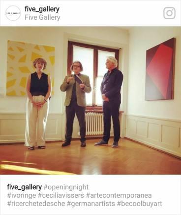 Ivo Ringe e Cecilia Vissers in Five Gallery Lugano.