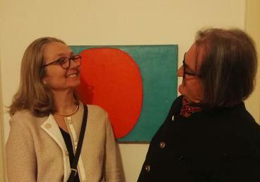 Maria Wallenstal-Schoenberg per il Ciclo espositivo 'Ricerche tedesche' in Five Gallery Lugano 2017.