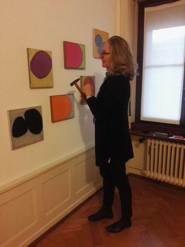 Maria Wallenstall in Five Gallery Lugano.