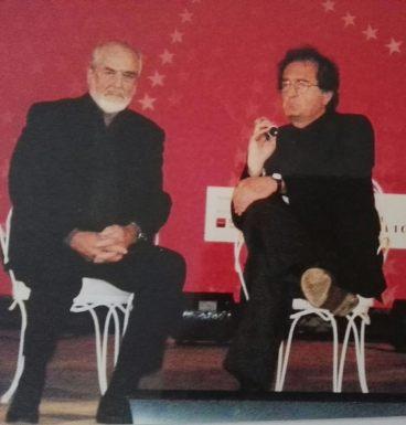 Michelangelo Pistoletto, proposte per un diverso sistema economico del pianeta. Rimini 2011.
