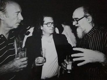 Riccardo Guarneri, con Emilio Vedova, alla Biennale negli anni '80. Oggi una riconferma.