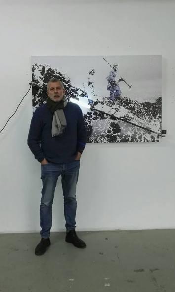 Ulrich Egger, incontro nello studio di Merano (Bz).