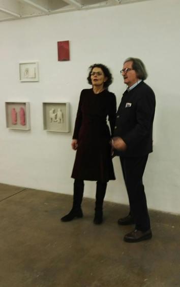 """Andrea Hess inaugurazione per Galerie Merkle Stuttgart """"Una voce fuori dal coro""""."""