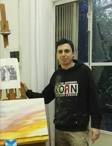 Carlo Alberto Rastelli incontro in Studio a Milano per preparare Art Karlsruhe Febbraio 2018