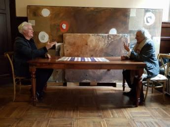 Ivo Ringe e Giorgio Cattani in studio a Ferrara. Incontri di sensibilità espressiva.