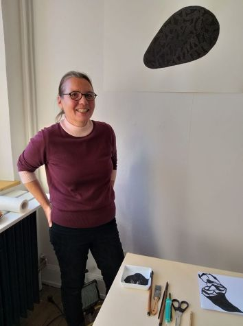 Anja Knjebuehler in studio a Freiburg