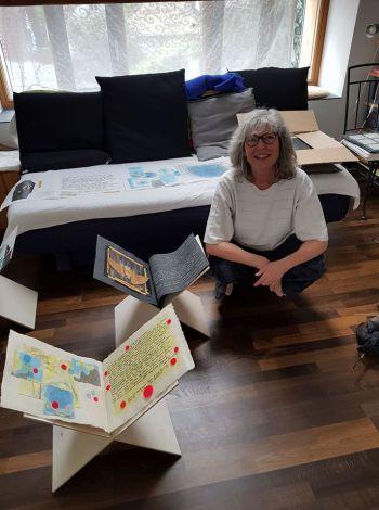 Annemarie Matzakov in studio a Freiburg 2017