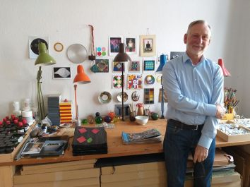 Ben Sleeuwenhoek in studio a Berlino 2019