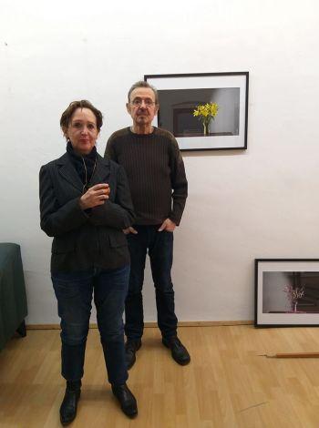 C.Desgranges nello studio-galleria di Carl Dahmen a Koln 2018