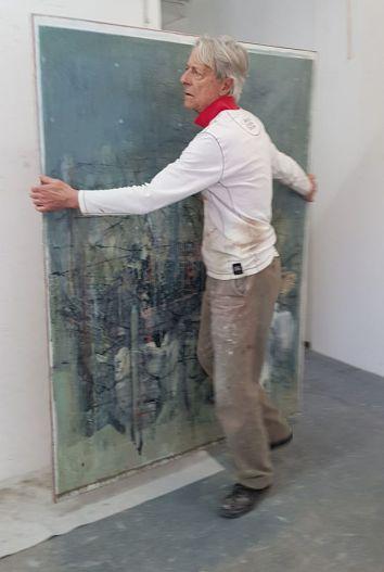 Cesare Lucchini in studio a Lugano 2018