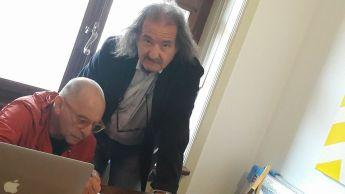 Con Fosco Valentini in Five Gallery Lugano