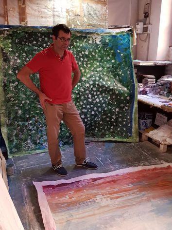 Con Giovanni Cerri in studio a Milano