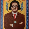 Di Alfredo Romio – Icona di Andrea B. Del Guercio, 2019, acrilico su stampa banner,30×40