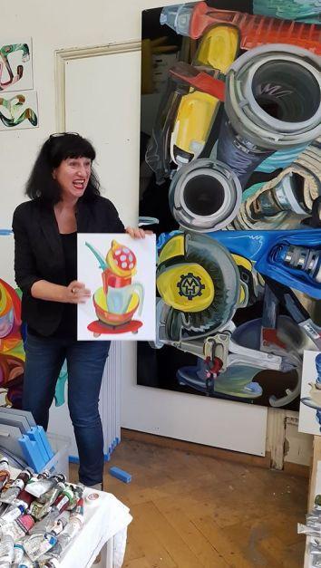 Elisabeth Berenznicki in studio a Freiburg