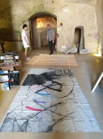 L.Zhang in allestimento a Matera 2019