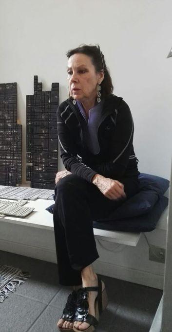 Luce Delhove in studio a Milano
