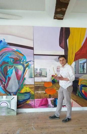 Martin Kasper in studio a Freiburg 2017