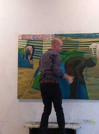 Max Diel in studio a Berlin 2019