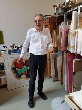 Rainer Gross in studio a Koln 2018