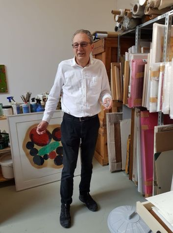Rainer Gross in studio a Koln 2018
