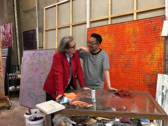 Zhijian Zhang in studio a Shenyang 2019